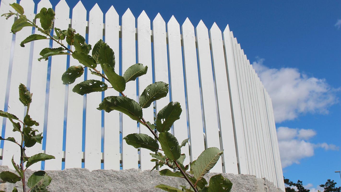 Vitt staket